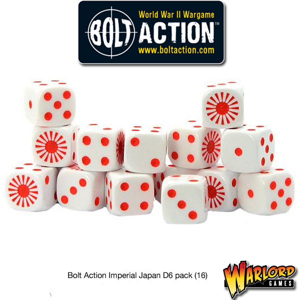 D6 Dice Pack - Imperial Japanese