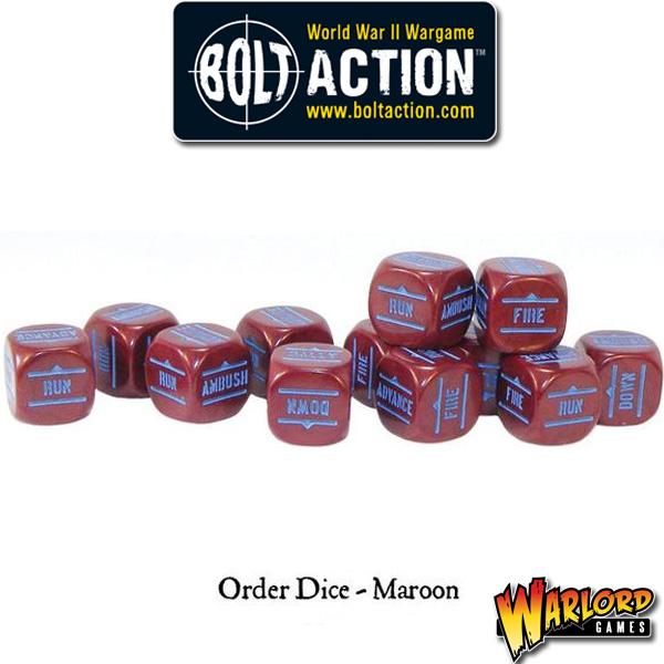 Order Dice pack - Maroon